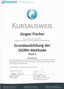 Grundausbildung DORN-Methode Kurs 1
