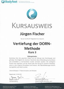 Vertiefung der DORN-Methode Kurs 3