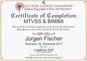 Zertifikat MTVSS & BIMIMI