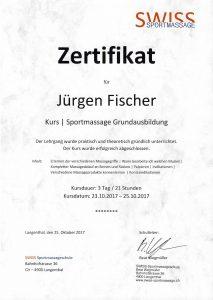 Zertifikat Sportmassage