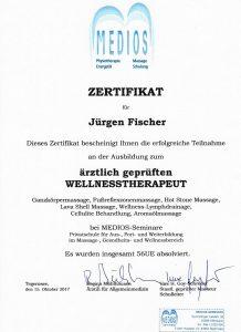 Zertifikat Wellnesstherapeut