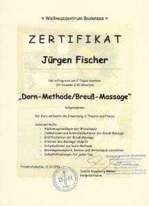 Zertifikat Dorn-/Breuss-Massage