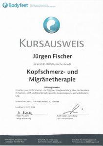 Kursausweis Kopfschmerz- und Migränetherapie