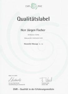 EMR Qualitätslabel ZSR-Nummer: T357463 - Klassische Massage Nr. 102
